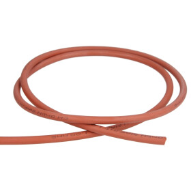 Ignition cable silicone, to 180 °C, per m, red