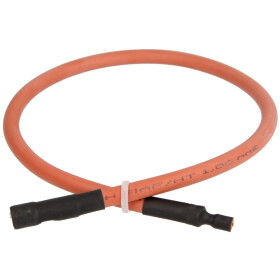 Ignition cable, silicone, 450 mm, 4mm x 6.3 mm connection