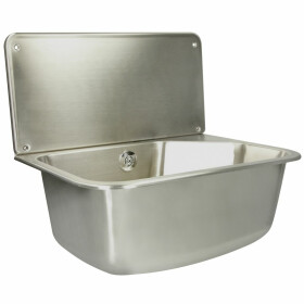 Stainless steel utility sink with shelf Leon dimensions...