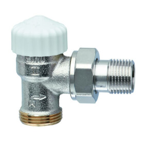 Heimeier Thermostat-Ventilunterteil Eck 1/2 Zoll mit 3/4...