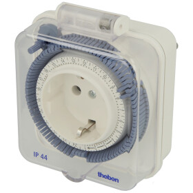Theben timer 26 IP 44 - 24 h socket timer, analogue, with...