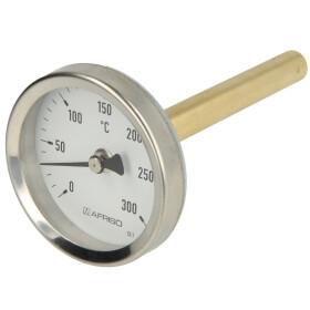 Bimetal dial thermometer 0-300°C 100 mm sensor with...