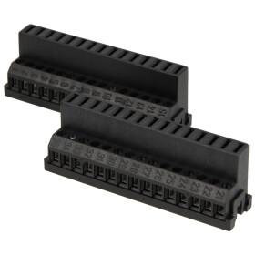 DOMOTESTA pair of connector blocks with spring clip, black