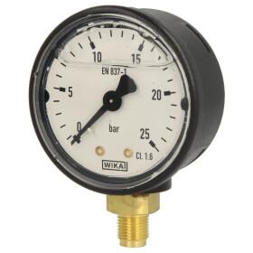 Glycerine pressure gauge radial
