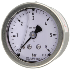 """Glycerine pressure gauge ¼"""" axial"""