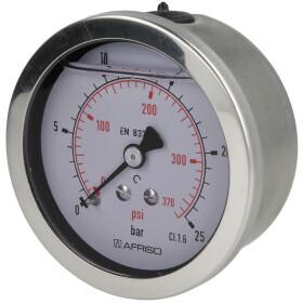 """Glycerine pressure gauge 1/4"""" axial"""