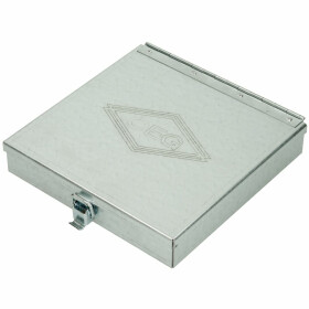 Oil burner nozzle case sheet steel