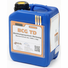 Liquid sealing agent BCG TD, f. loss of water in boilers,...