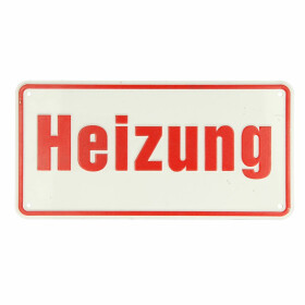 Hinweisschild, Heizung 100 x 200, Alu, 1083