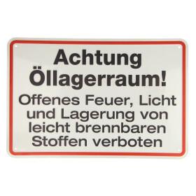 """Sign, """"Oil storage room"""" 200 x 300, aluminium,..."""