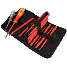 WERA screwdriver set VDE Kraftform Kompakt in folding bag...