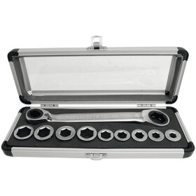KS ring ratchet spanner set 10 pieces with go through...