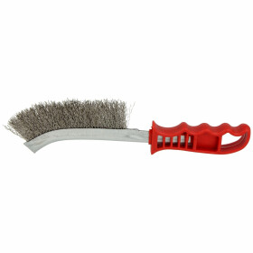 Stainless steel all-purpose wire brush plastic handle 250 mm