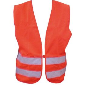 Safety vest according to EN 471 XXL polyester bright red