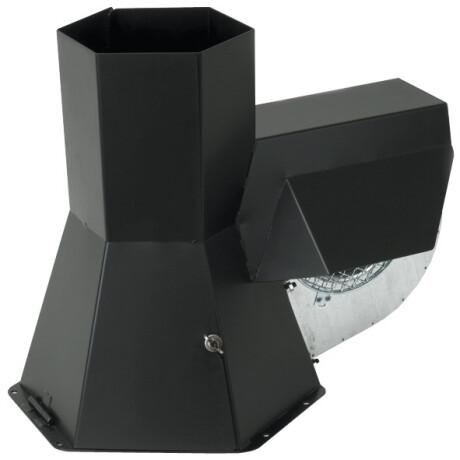 RS-180, chimney fan INJEKT stainless steel, black powder-coated