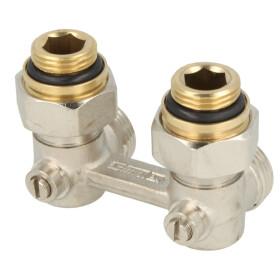 Simplex bi-tube valve block E1/50, elbow F10013