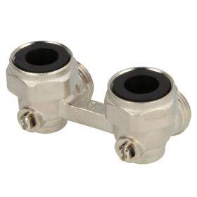 "Bi-tube ball valve, elbow, nickel- plated, 3/4"" IT x..."