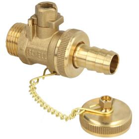 """SCHELL F+E ball valve 1/2"""" brass actuation by cap"""