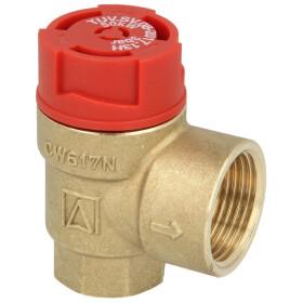 "Safety valve for heating 1/2"" 3 bar"