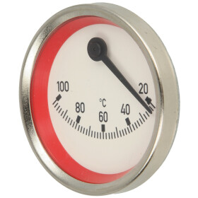 Contact thermometer eccentric red