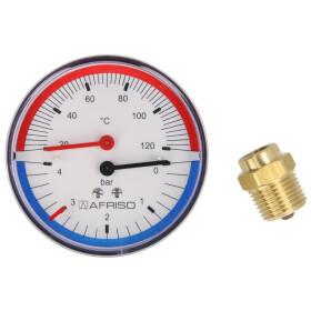 Thermal pressure gauge 0-2.5-4 bar 20-120° C 80 mm...
