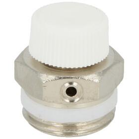"Radiator vent valve 1/2"" manual with knurled nut"