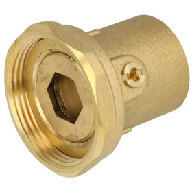 """Pump connection with ball valve union nut 1 1/2"""" x..."""