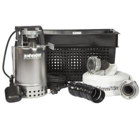 Zehnder flood emergency kit with submersible pump 15-m...