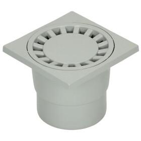 Universal floor drain 100 x 100 mm grey/beige