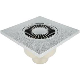 Universal floor drain 150 x 150 mm chrome-plated