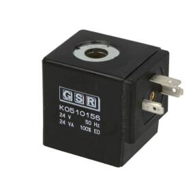 Coil-T012, 24 V, 50 Hz, 43/24 VA, IP 65, 100 % duty time