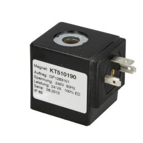 Coil-T012, 230/240 V 50 Hz, 43/24 VA, IP 65, duty time 100 %