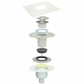 Thin-bed - drain set DS 10 vertical