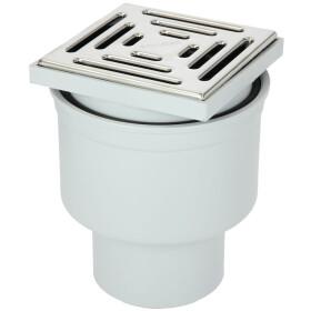 Cellar drain 15 x 15 cm vertical DN 100 stainless steel...