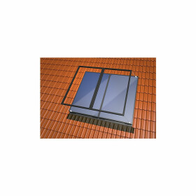 Single-sheet in-roof basic set 4plus tiles 2 vertical...