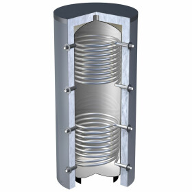OEG buffer storage tank 1,000 litres with 2 smooth-pipe...