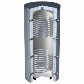 OEG buffer storage tank 1,500 litres with 2 smooth-pipe...