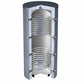 OEG buffer storage tank 3,000 litres with 2 smooth-pipe...