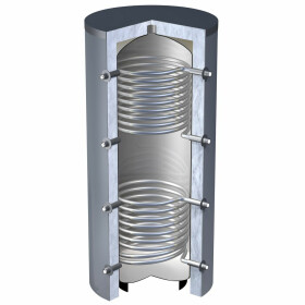 OEG buffer storage 2,250 litres with 2 smooth-pipe heat...