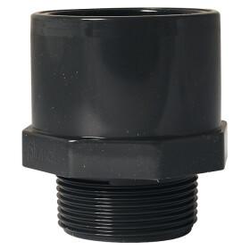 "PVC adapter nipple 50 - 40 mm x 1 1/2"" ET"