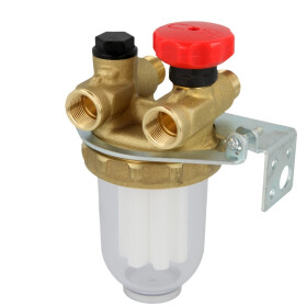 Afriso oil filter double-line system 3/8, sintered...