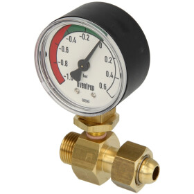 Ficon underpressure gauge with lock nut + inner cone for...