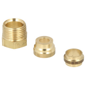 connector set oil filter, Oventrop, 3/8 x 10 mm, double