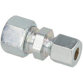 Straight coupling 12 mm x 8 mm reduced