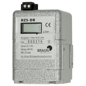 Oil meter HZ5-DR with LCD display and Reed contacts