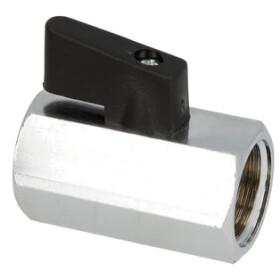 "Ball valve mini hexagon 1/4"" IT/IT chrome-plated brass"
