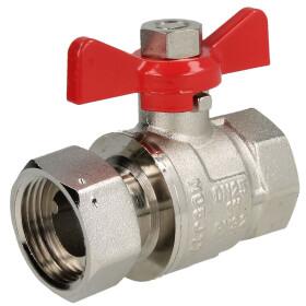 "Brass ball valve 1"" x 1"" IT/lock nut with wing..."