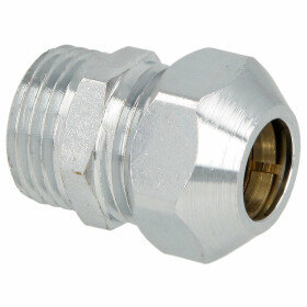 Straight crimp screw joint 1/2 x 1/2 x 12 mm, chrome-plated