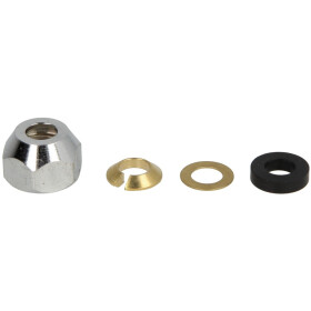 Crimp screw joint 1/2 x 12 mm, chrome-plated