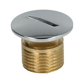 "Blank plug 3/8"" chrome-plated brass"